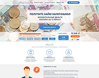 Landing Page for micro finance company /