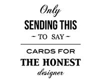 honest designer cards
