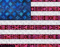 Tribal America {stars & stripes}