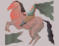 Horse rider and others