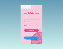 Daily UI #001 - Sign Up (Dribbble sign up page)