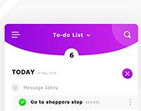 My to-do list app