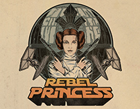 Rebel Princess starwars shirt design
