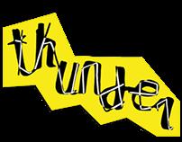 Thunder font - handlettering
