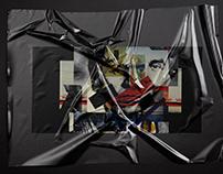 Black square book cover design
