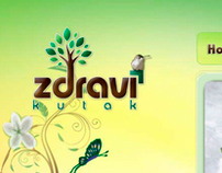 Zdravi Kutak ~ Web Design and Flyer design
