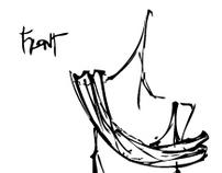 Hand Sketched Scarves