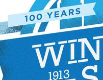 WS centennial logo concept