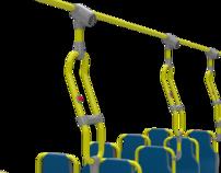 Conforto para pessoas que viajam em pé em ônibus urbano
