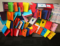 Colourful Home-Made Thank You Cards