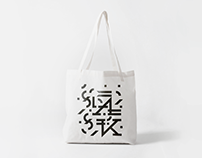 Typographic design for cotton bag