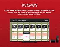 Waves Apple TV radio app