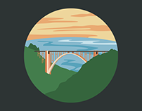 Bixby Bridge Digital Illustration