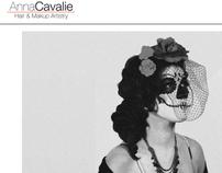 Anna Cavalie Hair & Makeup Artistry webpage