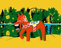 Illustrations about Sweden