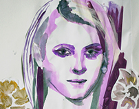Ink collage portrait
