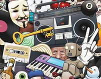 Visual identity for Jyrock 2012 music festival