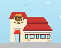Blondy Burger - Motion Design