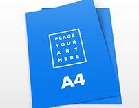 Free A4 Leaflet PSD Mockups