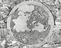 """Mappa Mundi 76""""x68"""" 2017"""
