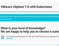 VMWare vSphere 7 landing page