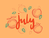 Free Illustrated July Wallpapers