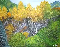 Honey waterfall