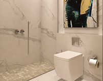 Guest bathroom design at SIA office