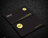 Black Print Ready Business Card