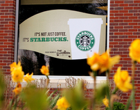 Starbucks Window Advertisment