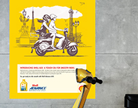 Shell Advance AX5, First Scooter Oil Launch in India