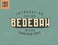 FREE FONT - BEDEBAH TYPEFACE