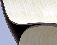 Contour Lounge chair - wood
