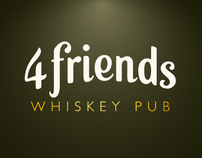 4friends Whiskey Pub Corporate Identity