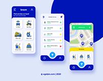 Broom Cleaning Mobile App UI/UX Design