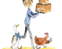 Moving poultry