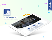 Lafirm - Landing page - Free PSD