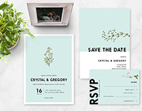 Simple Floral Wedding Suite