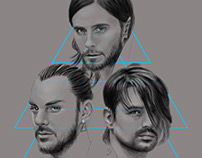 Digital Illustration of 30 Seconds to Mars
