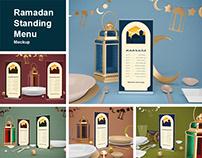 Ramadan Standing Menu Mockup