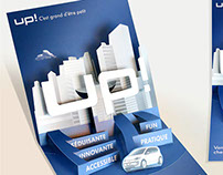 VW direct mail piece for the client of French agency.