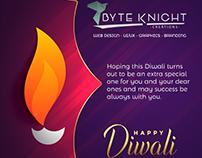 Happy Diwali Banner Design - Byteknight Creations