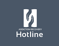 Addiction Recovery Hotline Logo Design