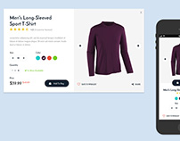 E-Commerce Product Preview Responsive UI Concept