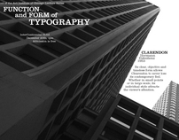 Function and Form of Typography
