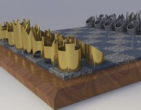 Cy Endfield - Chess Set 3-D modeling