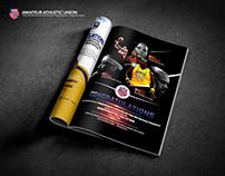 """Naismith Basketball HOF"" Magazine Insert Design"