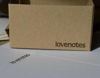 lovenotes logo and illustration