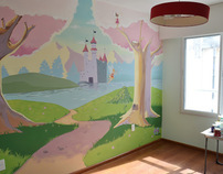 Enchanted forest (wall painting)