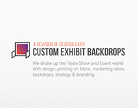 Homepage Redesign - Exhibit Backdrops